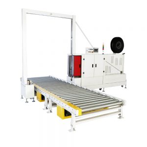 MH105A fully auto horizontal pallet strapping machine