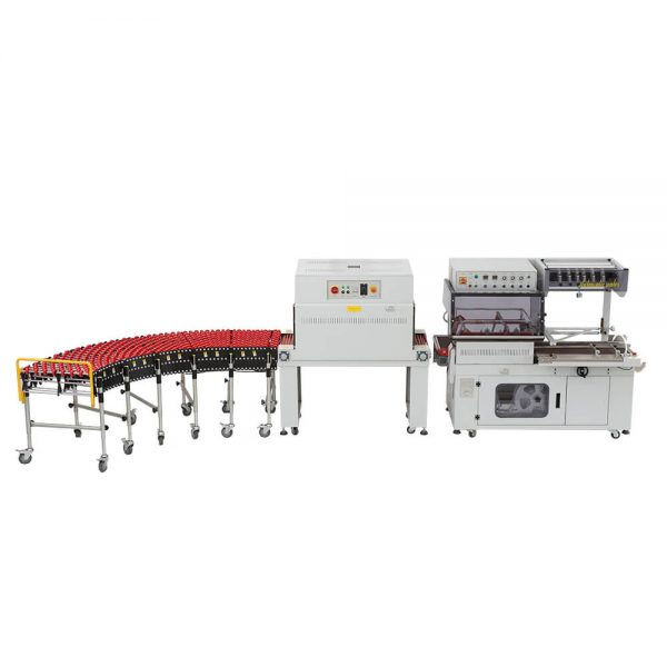 Automatic L bar sealing shrink wrapping machine