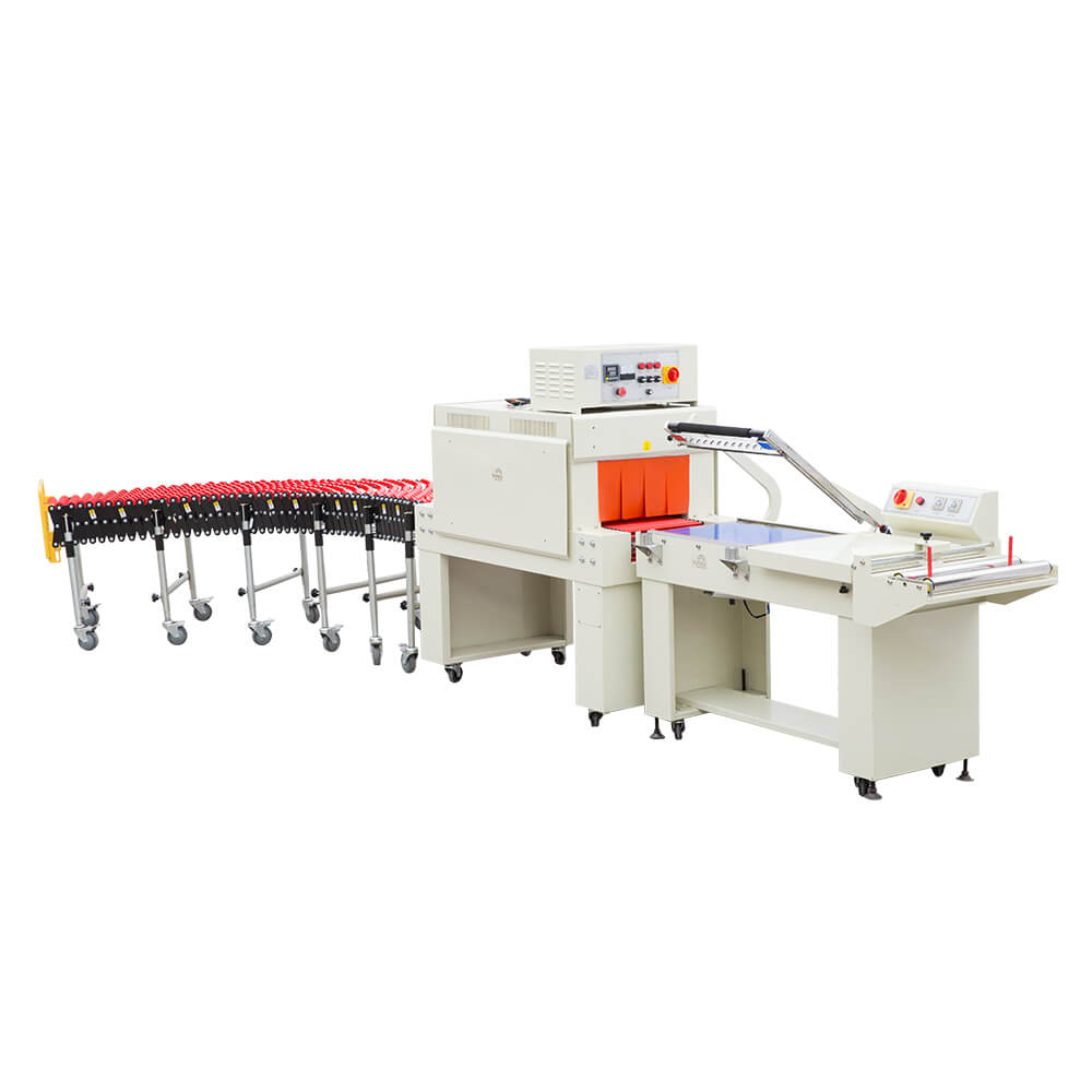 l type semi-automatic sealing and shrinkage packaging machine