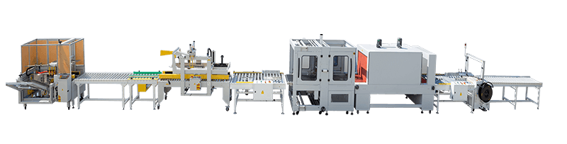 Carton Erector Carton Sealer Shrink Wrapping Machine and Strapping Machine Line