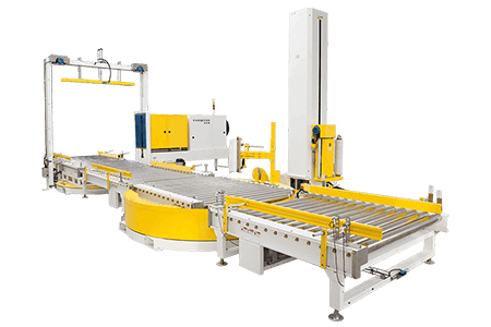 Fully-Automatic-press-type-strapping-and-wrapping-machine-line-2